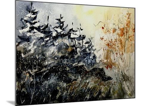 Watercolor Wild Boars-Pol Ledent-Mounted Art Print