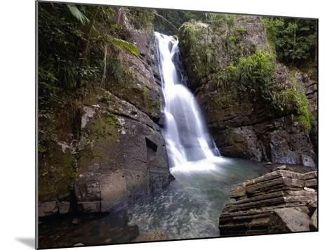 La Mina Waterfall, El Yunque, Puerto Rico-George Oze-Mounted Photographic Print