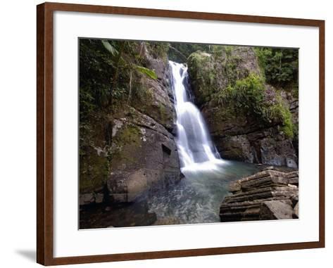 La Mina Waterfall, El Yunque, Puerto Rico-George Oze-Framed Art Print