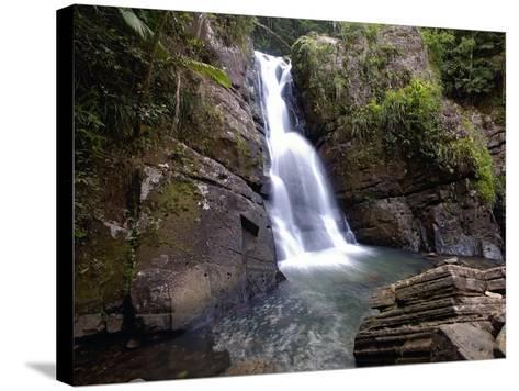 La Mina Waterfall, El Yunque, Puerto Rico-George Oze-Stretched Canvas Print