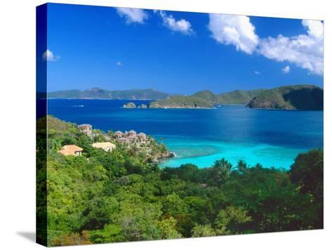 Villa with a View, Saint John, US Virgin Islands-George Oze-Stretched Canvas Print