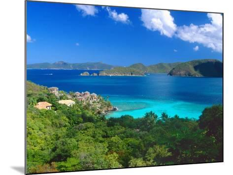 Villa with a View, Saint John, US Virgin Islands-George Oze-Mounted Photographic Print