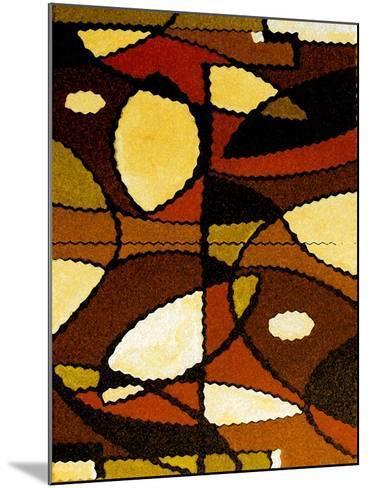 Geometric Waves-Ruth Palmer-Mounted Art Print