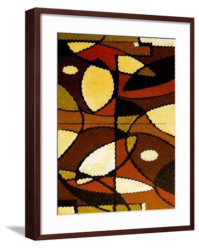 Geometric Waves-Ruth Palmer-Framed Art Print