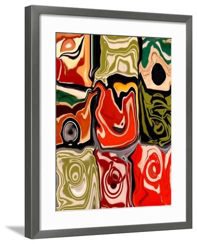 Nine Patch I-Ricki Mountain-Framed Art Print