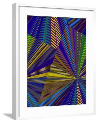 Blue Criss Cross II-Ruth Palmer-Framed Art Print