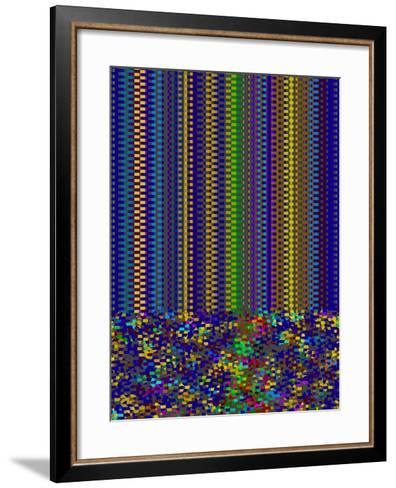 Blue Criss Cross-Ruth Palmer-Framed Art Print