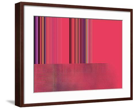 Hot Pink Side Shuffle-Ruth Palmer-Framed Art Print