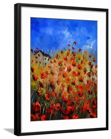 Red Poppies 562111-Pol Ledent-Framed Art Print