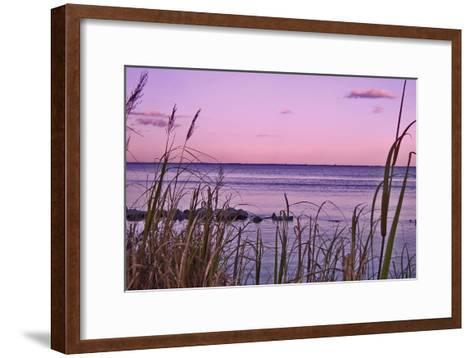 Sunset at Outer Banks, near Corolla-Martina Bleichner-Framed Art Print