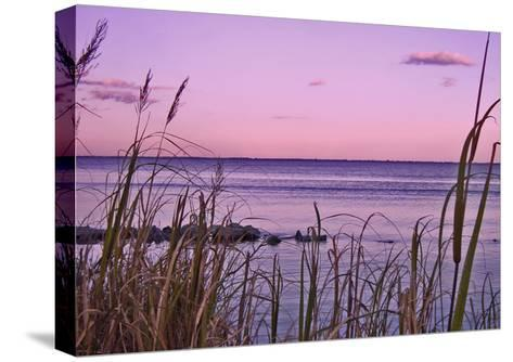 Sunset at Outer Banks, near Corolla-Martina Bleichner-Stretched Canvas Print