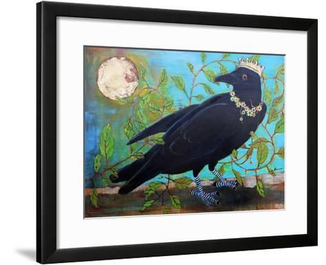 King Crow Messenger of Creation-Blenda Tyvoll-Framed Art Print