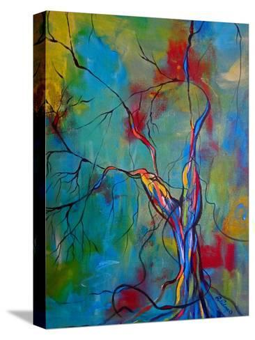 Tree Of Winding Color-Ruth Palmer-Stretched Canvas Print