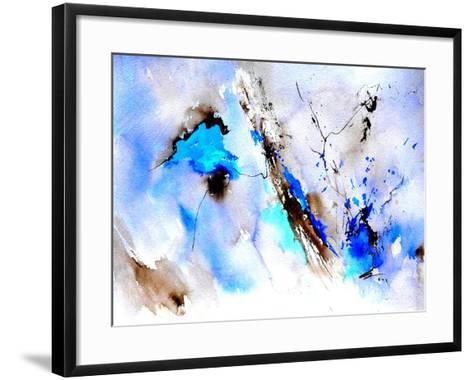 Abstract Blue 236874-Pol Ledent-Framed Art Print