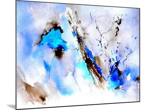 Abstract Blue 236874-Pol Ledent-Mounted Art Print