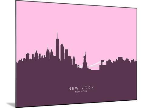 New York Skyline-Michael Tompsett-Mounted Art Print