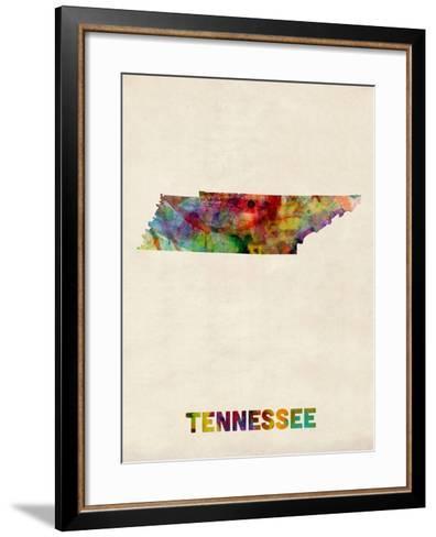 Tennessee Watercolor Map-Michael Tompsett-Framed Art Print