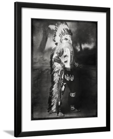 Chief Shikoba Featherbeard-Grand Ole Bestiary -Framed Art Print
