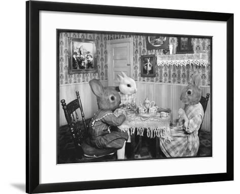 Bunny Tea Party-Grand Ole Bestiary -Framed Art Print