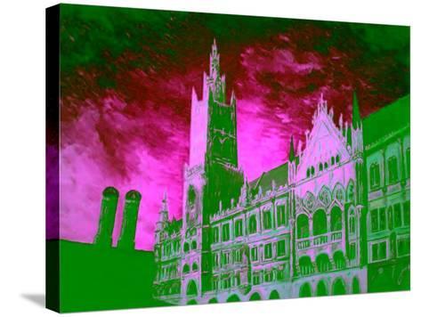 New Town Hall Munich-Markus Bleichner-Stretched Canvas Print