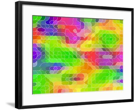 Colored Line Blobs-Ruth Palmer-Framed Art Print