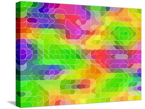 Colored Line Blobs-Ruth Palmer-Stretched Canvas Print