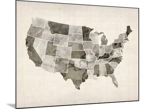 United States Watercolor Map-Michael Tompsett-Mounted Art Print