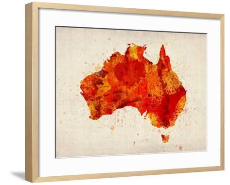 Australia Paint Splashes Map Art Print by Michael Tompsett | the NEW ...