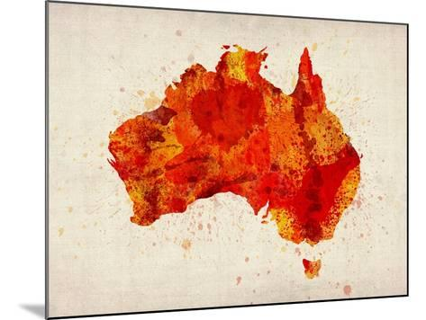 Australia Paint Splashes Map-Michael Tompsett-Mounted Art Print