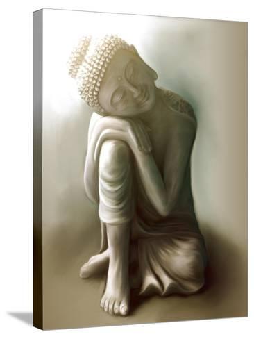 Resting Buddha-Christine Ganz-Stretched Canvas Print