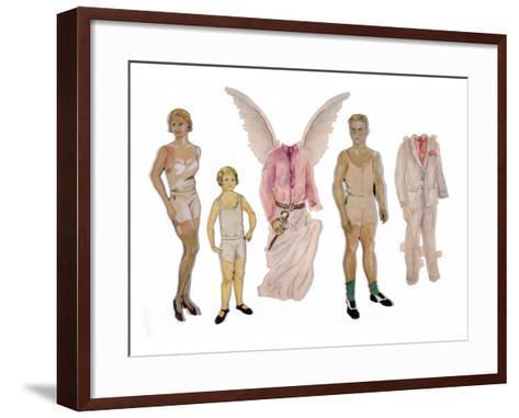 Paper Dolls of Scott, Zelda and Scottie-Zelda Fitzgerald-Framed Art Print