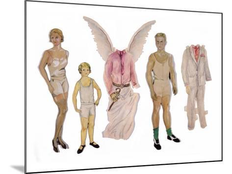Paper Dolls of Scott, Zelda and Scottie-Zelda Fitzgerald-Mounted Art Print