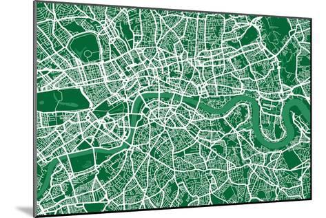London England Street Map-Michael Tompsett-Mounted Art Print