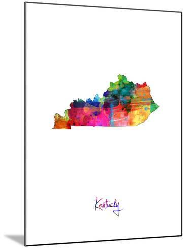 Kentucky Map-Michael Tompsett-Mounted Art Print