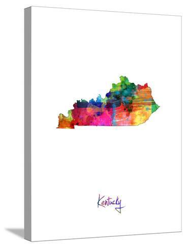 Kentucky Map-Michael Tompsett-Stretched Canvas Print