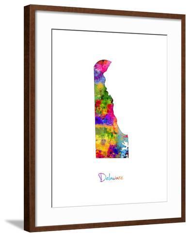 Delaware Map-Michael Tompsett-Framed Art Print