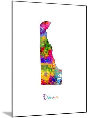 Delaware Map-Michael Tompsett-Mounted Art Print