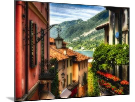 Charming Street Scene in Bellagio II-George Oze-Mounted Photographic Print