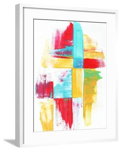 Quilt Like Pattern Abstract-Megan Aroon Duncanson-Framed Art Print