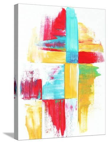 Quilt Like Pattern Abstract-Megan Aroon Duncanson-Stretched Canvas Print