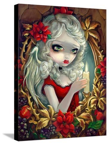 Christmas Candle-Jasmine Becket-Griffith-Stretched Canvas Print