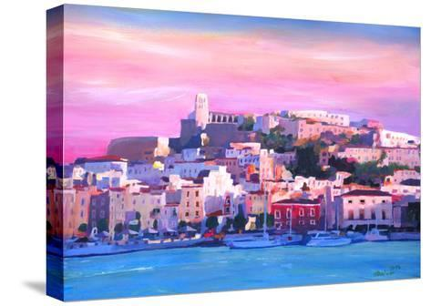 Ibiza Eivissa Old Town And Harbour Pearl Of The Mediterranean-Markus Bleichner-Stretched Canvas Print