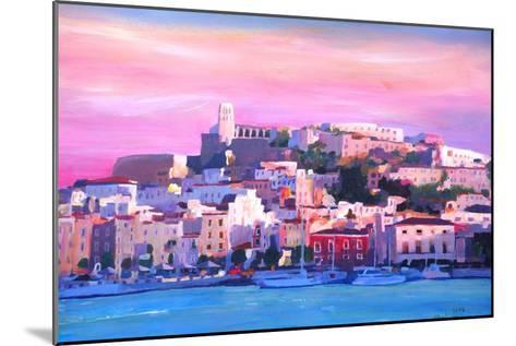 Ibiza Eivissa Old Town And Harbour Pearl Of The Mediterranean-Markus Bleichner-Mounted Art Print