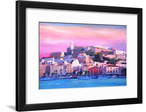Ibiza Eivissa Old Town And Harbour Pearl Of The Mediterranean-Markus Bleichner-Framed Art Print