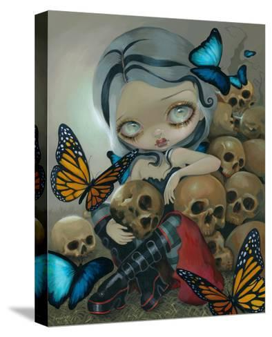 Butterflies and Bones-Jasmine Becket-Griffith-Stretched Canvas Print