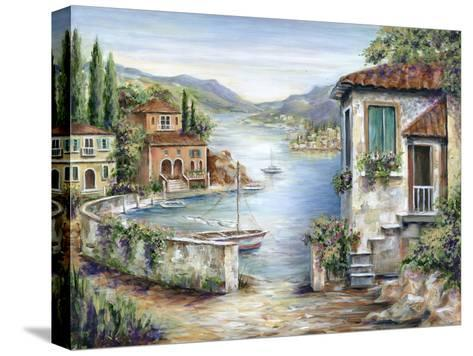 Tuscan Villas on the Lake-Marilyn Dunlap-Stretched Canvas Print