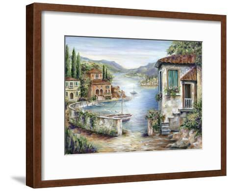 Tuscan Villas on the Lake-Marilyn Dunlap-Framed Art Print
