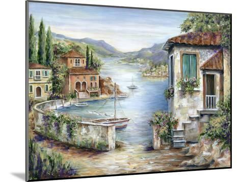 Tuscan Villas on the Lake-Marilyn Dunlap-Mounted Art Print