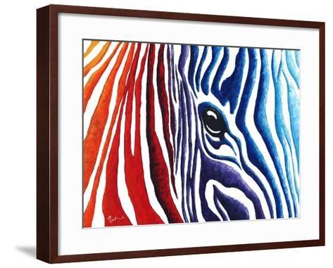 Abstract Pop Zebra-Megan Aroon Duncanson-Framed Art Print