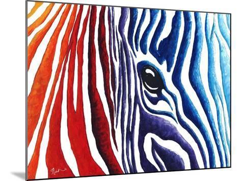 Abstract Pop Zebra-Megan Aroon Duncanson-Mounted Art Print